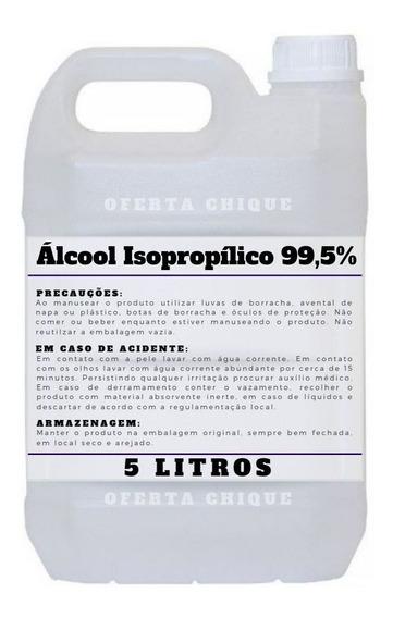 Kit 5 Litros Isopropanol Alcool Isopropilico Envio Imediato