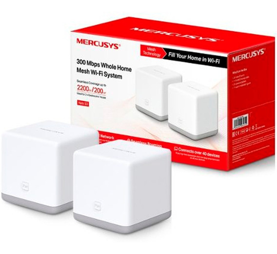 Access Point Halo S3 Mesh Mercusys 200m 300mbps 2-pack