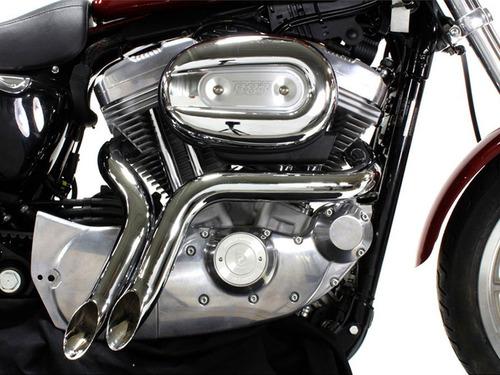 Escapes Drag Pipes Cromados Para Harley Davidson Multifit