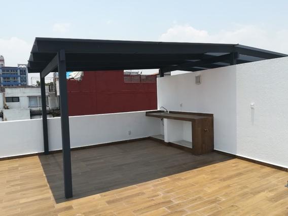Ph De 3 Recámaras Con Roof Garden Privado En Narvarte Poniente