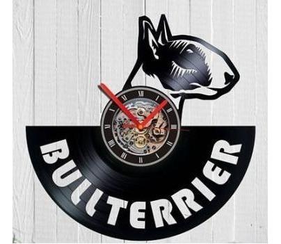 Imagem 1 de 1 de Bull Terrier Cão Cachorro Relógio Parede