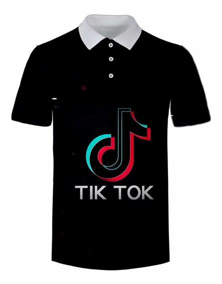 Tik Tok - Camiseta De Manga Corta, Camisa Polo
