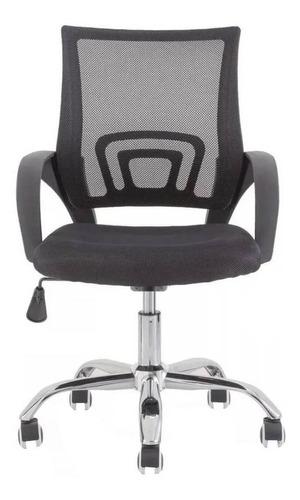 Cadeira de escritório Zcod Giratória em Tela Mesh ergonômica  preta con estofado do mesh