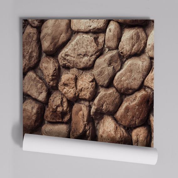 Papel De Parede Adesivo Pedras Redondas Pr-32 - 32 Unidades