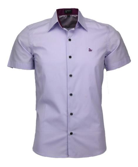 Camisa Masculina De Algodão Amil Fox Detalhes Top Luxuosos