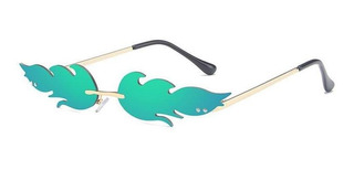 Gafas De Sol Con Forma De Fuego, Sin Marco, Diseño De Ojo D