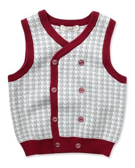 Chaleco Bebé Niño Tejido Punto Botones 1, 2, 3, 4 Años
