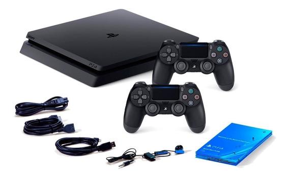 Ps4 Playstation 4 Slim 1tb C/ 2 Controles Originais Original