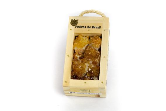 Drusas De Citrino - Caixa Beleza Natural - Souvenir Brasil