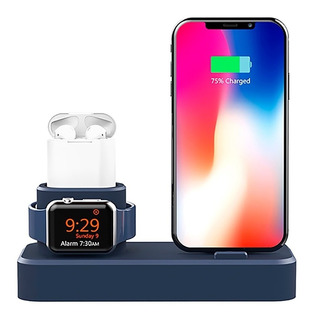Dock Silicone Suporte Base P/ Apple Watch iPhone X Xr Xs Max