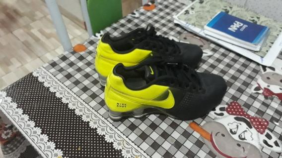 Tenis Nike Deliver Preto Verde Limao Original