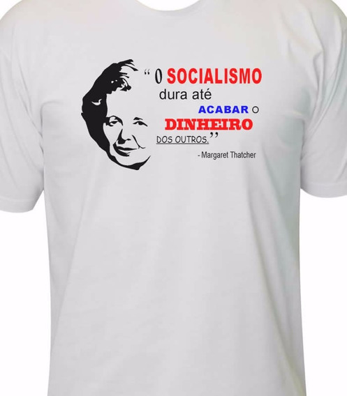 Camiseta Margaret Thatcher Direita Liberal Conservador
