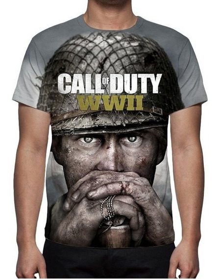 Camisa, Camiseta Game Call Of Duty Ww2 - 2017- Estampa Total