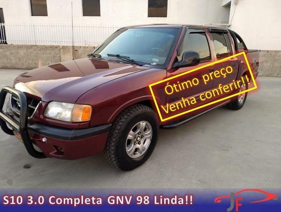 Gm S10 De Luxe 1998 Cor Vinho V6 Com Gnv