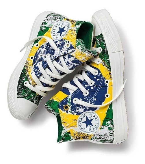 Tênis All Star Converse Verde/amarelo Ct3669548 Original