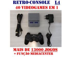 Retro Console L4: Emulador Com 40 Videogames 13.000 Jogos