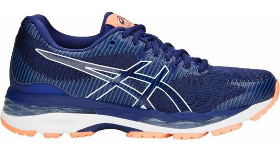 Tenis Asics Gel Ziruss 2 Azul Mujer Correr Supinador Maraton