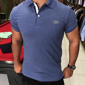 6cef7123d91 Camiseta Lacoste Azul Marinho Original - Camisetas Manga Curta no ...