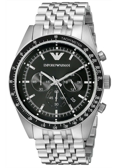 Relógio Emporio Armani Masculino Inox Prata Ar5998 Original