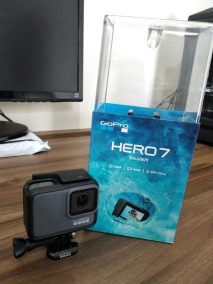 Gopro Hero 7 Silver - Pouquissímo Uso / Cartão E Acessórios