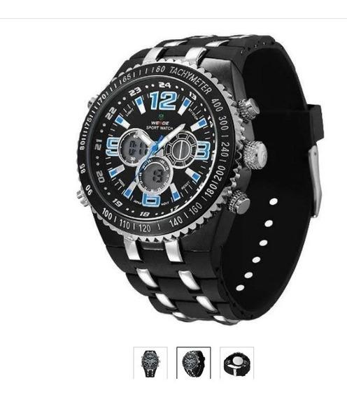 Relógio Weide Azul Analógico E Digital - Masculino
