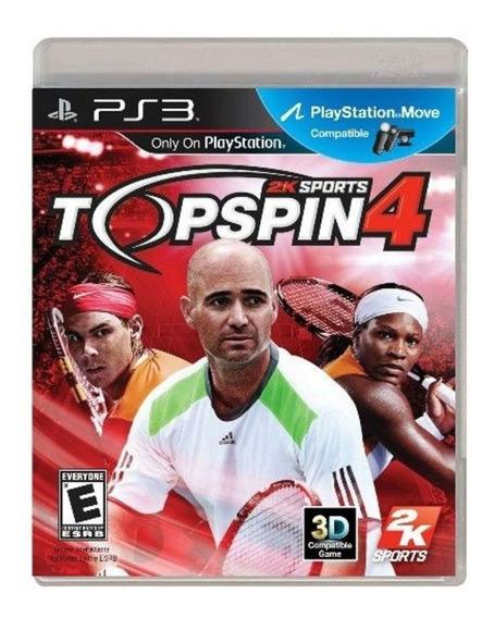 Game Jogo Ps3 Usado Top Spin 4 Mídia Física