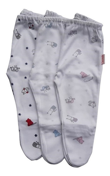 Pantalon Bebe Interlock Prima Estampado Animalito 100 % ALG