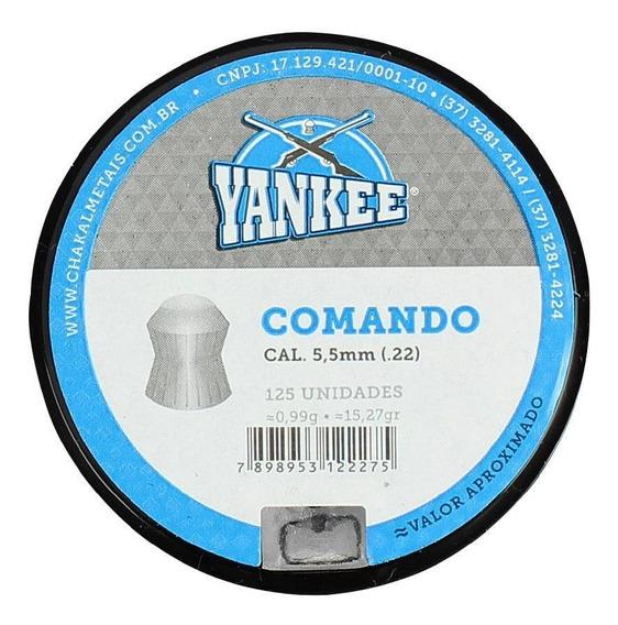 Chumbinho Munição Carabina Pressão Yankee Comando 5.5mm 125u
