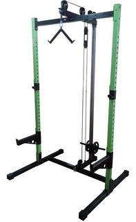 Squat Rack 3 C Sistema De Polias Muscle