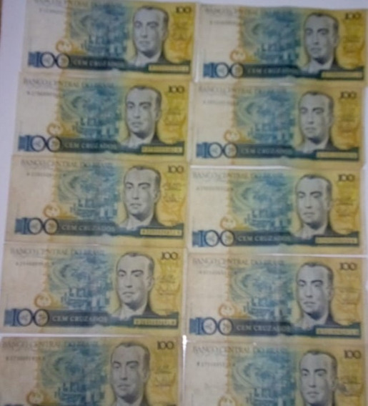 Lote Cédulas Notas Dinheiro Antigo De Cruzeiros E Cruzados