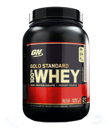 Proteina On Gold Standard 100% Whey 2 Lbs Todos Sabores!
