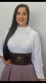 Blusa Detalhes Prenda Feminino Baile Rodeio Camisa