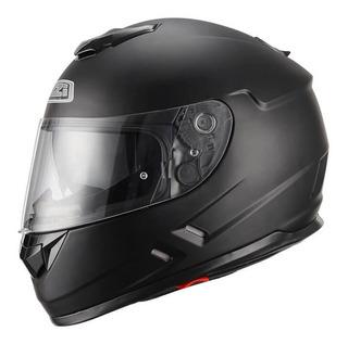 Casco Moto Doble Visor Negro Mate Nzi Symbio Duo Talle Xl