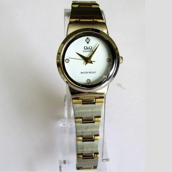 Relógio Q & Q Miyota Feminino Misto, Aço E Folhado Q399-401y