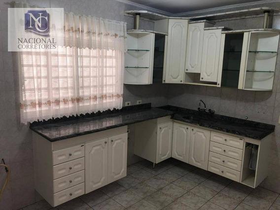 Sobrado Com 4 Dormitórios Para Alugar, 130 M² Por R$ 2.800,00/mês - Vila Curuçá - Santo André/sp - So1685