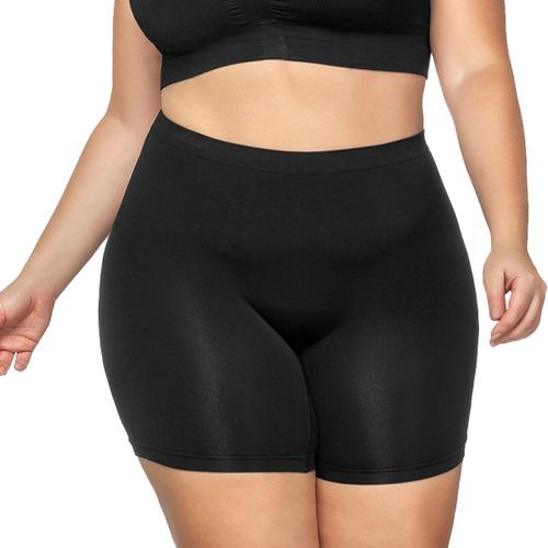 Imagem 1 de 4 de Short Íntima Plus Size Sem Costura Cintura Alta Bermuda