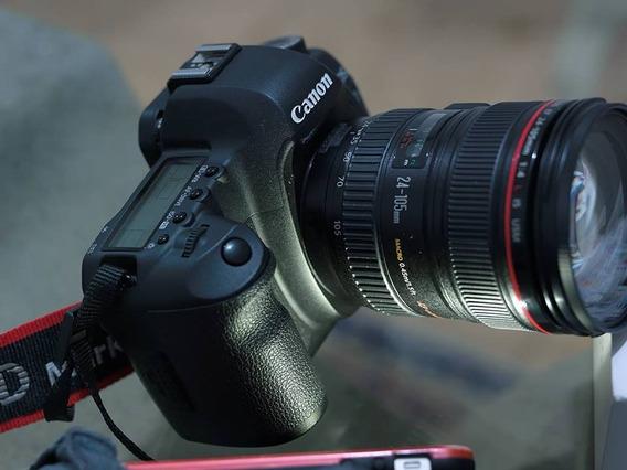 Canon 5d Mk2 + Lente 24 105mm F4 + Grip