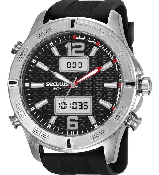 Relógio Masculino Seculus Prateado Anadigi 20751g0svni1