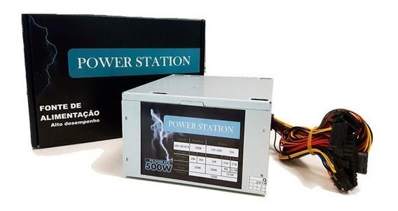 Fonte 500w Power Station Gbx-500 Af-b Box Com Cabo