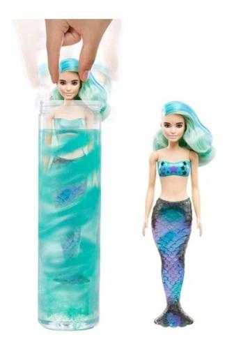 Barbie Sirena Color Reveal Mermaid Serie Con 7 Sorpresas