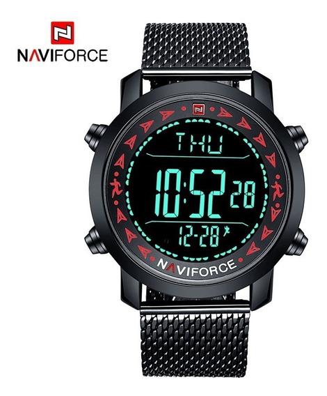 Reloj Naviforce Original 9130, Podometro, Hombre Atletico