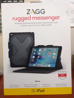 Funda Case Zagg Rugged Messenger Durable iPad 9.7 6th Gen.