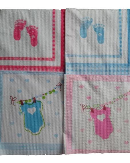 20 Servilletas Baby Shower Ó De Colores Con Lunares