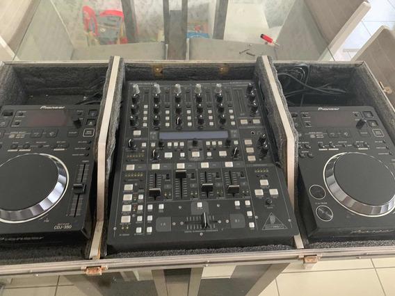 Cdj 350 Piooner + Mixer Behringer Ddm 4000 + Case