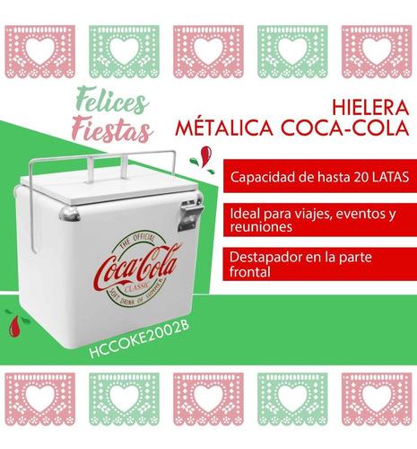 Imagen 1 de 7 de Hielera Metálica Coca-cola Dace Hccoke2002b
