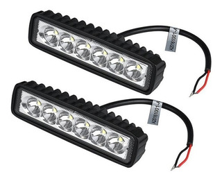 2 Exploradoras En Barra 6000lm 6 Led Fija Moto/carro