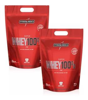 2x Whey Protein 100% Pure 907g - Integral Medica + Brinde