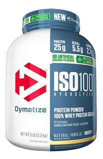 Iso 100 Natural Stevia 5lbs - Dymatize / 100% Whey Isolado