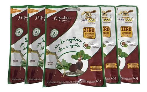 Imagem 1 de 1 de Combo 5 Bifinhos Gourmet Like Dog Frango E Legumes 65g Cada