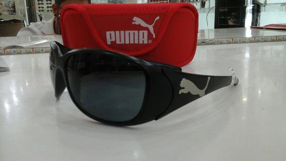 Óculos Puma Original Solar Preto Fosco Pu15013 Bk61